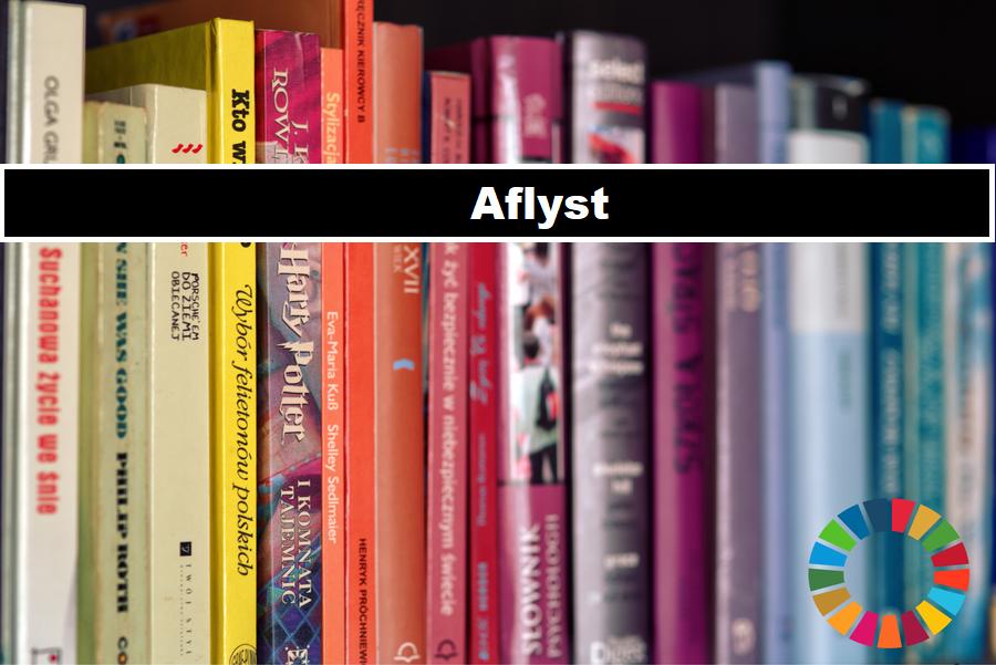Billede med info om at Bogbyttedag den 19/9 på Hørning Bibliotek, desværre aflyst.
