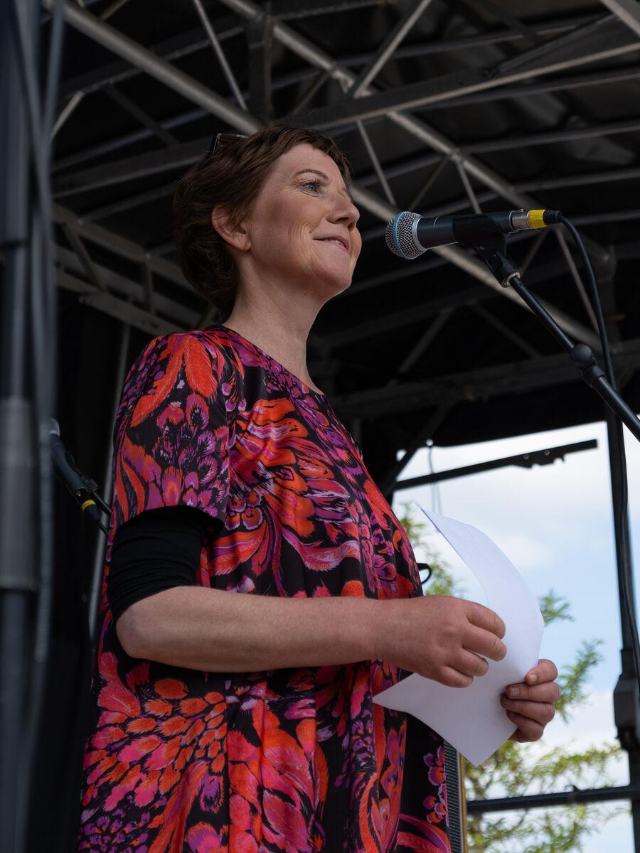 Louise Dalsgaard til indvielsen af Søtorvet