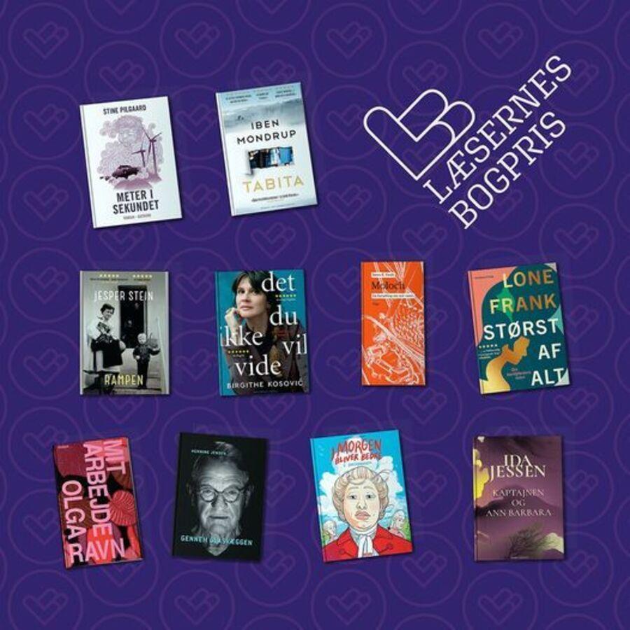 De 10 nominerede til Læsernes Bogpris